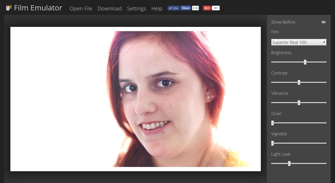 Free Online Analog Film Emulator