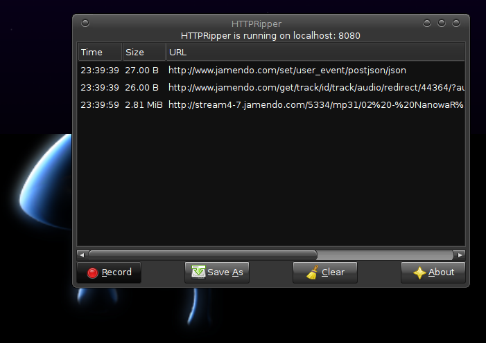 A Screenshot of httpripper