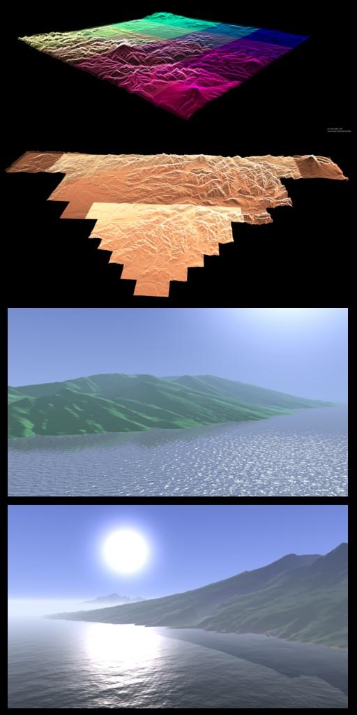 WebGL Terrain, Ocean, Fog - 29a ch