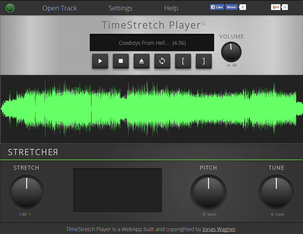Screenshot of Timestretch Player